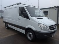 2012 MERCEDES-BENZ SPRINTER 313 CDI MWB LOW ROOF, 130 BHP [EURO 5], FULL SERVICE HISTORY, 1 COMPANY OWNER £8995.00