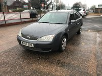 USED 2005 55 FORD MONDEO 1.8 LX 16V 5d 125 BHP MOT TILL SEPTEMBER 18-DRIVES WELL-SERVICE HISTORY