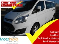 2015 FORD TOURNEO CUSTOM 300 L2 (LWB) Titanium 125ps 9-Seats (Leather & Sat Nav) £15995.00