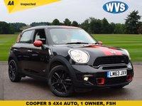 2013 MINI COUNTRYMAN 2.0 COOPER SD ALL4 5d AUTO 141 BHP £10999.00