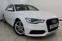 USED 2013 63 AUDI A6 2.0 TDI S LINE 4DR 175 BHP LEATHER SEATS + SAT NAVIGATION + PARKING SENSOR + BLUETOOTH + CRUISE CONTROL + MULTI FUNCTION WHEEL + 18 INCH ALLOY WHEELS