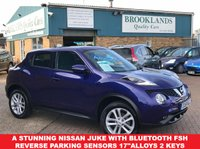 "USED 2015 15 NISSAN JUKE 1.6 ACENTA XTRONIC 5 Door AUTO 117 BHP Ink Blue Metallic A Stunning Nissan Juke With Bluetooth, Reverse Parking Sensors, 17""Alloys,2 keys,Full Service History"