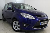 USED 2014 64 FORD GRAND C-MAX 1.6 ZETEC TDCI 5DR 114 BHP FULL FORD SERVICE HISTORY + 7 SEATS + PARKING SENSOR + BLUETOOTH + MULTI FUNCTION WHEEL + AIR CONDITIONING + 16 INCH ALLOY WHEELS