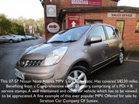 2007 NISSAN NOTE 1.6 ACENTA 5d AUTO 109 BHP £3495.00
