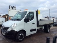 USED 2015 15 RENAULT MASTER TIPPER 2.3 ML35 BUSINESS DCI L/R DRW 125 BHP 1 OWNER FSH MANUFACTURERS WARRANTY TOW BAR ELECTRIC WINDOWS AND MIRRORS BLUETOOTH 6 SPEED