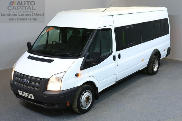 2012 12 FORD TRANSIT 2.2 430 SHR BUS 17 STR 5d 134 BHP RWD 17 SEAT MINIBUS ONE OWNER FROM NEW