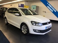 USED 2012 62 VOLKSWAGEN POLO 1.2 MATCH 5d 59 BHP FULL VW SERVICE HISTORY,  1 PREVIOUS OWNER