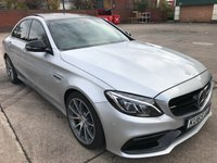 USED 2015 65 MERCEDES-BENZ C CLASS 4.0 AMG C 63 PREMIUM 4d AUTO 469 BHP FULL SERVICE HISTORY, ONLY 11000 MILES, CAT-D, SATELITE NAVIGATION, PANORAMIC ROOF, DAB RADIO, PARK ASSIST, REVERSE CAMERA, RED CALIPERS, BLACK PACK, ALLOYS,