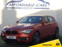 2014 BMW 1 SERIES 2.0 116D SPORT 5d 114 BHP £10250.00