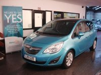 USED 2011 11 VAUXHALL MERIVA 1.7 SE CDTI 5d AUTO 99 BHP Two private owners- last lady since 2014. Full Vauxhall service history, April 2018 Mot but we will supply the car with 12 months.
