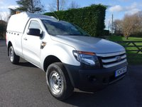 USED 2014 14 FORD RANGER XL 4x4 Single Cab Pick Up 2.2 Tdci 125Ps Rare Single Cab With Low Mileage; Full Service History