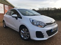 USED 2015 65 KIA RIO 1.2 SR7 5dr 83 BHP WHITE ONLY 22K IDEAL FAMILY CAR *LOW RATE FINANCE*