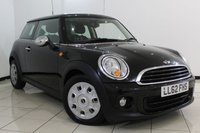 USED 2012 62 MINI HATCH ONE 1.6 ONE SALT PACK 3DR 98 BHP MINI SERVICE HISTORY + PANORAMIC ROOF + AIR CONDITIONING + RADIO/CD + ELECTRIC WINDOWS + 15 INCH ALLOY WHEELS