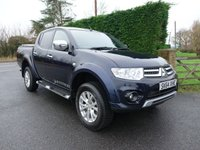 USED 2014 64 MITSUBISHI L200 Warrior 4x4 Double Cab Pick Up 2.2 Di-D 175Ps High Spec Inc Air Con