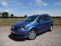 USED 2012 12 VOLKSWAGEN TOURAN 1.6 SE TDI DSG 5d AUTO 106 BHP 2 PRIVATE OWNERS FROM NEW WITH FULL SERVICE HISTORY