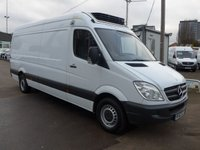 USED 2013 63 MERCEDES-BENZ SPRINTER 313 CDI LWB FREEZER WITH STANDBY, 130 BHP [EURO 5], 1 COMPANY OWNER