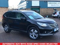 USED 2014 64 HONDA CR-V 2.2 I-DTEC EX 5d AUTO 148 BHP Automatic SUV Cream Leather Heated Front Seats, Electric Driver's seat, Panoramic Sunroof