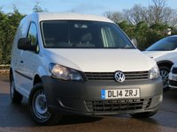 USED 2014 14 VOLKSWAGEN CADDY 1.6 C20 TDI STARTLINE 1d 101 BHP NO VAT TO PAY, ONE OWNER, FULL SERVICE HISTORY