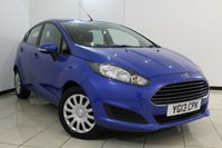 USED 2013 13 FORD FIESTA 1.5 STYLE TDCI 5DR 74 BHP SERVICE HISTORY + MULTI FUNCTION WHEEL + RADIO/CD + AIR CONDITIONING + ALLOY WHEELS