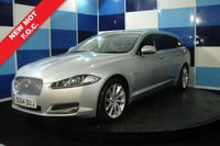 USED 2014 64 JAGUAR XF 2.2 D PREMIUM LUXURY SPORTBRAKE 5d AUTO 200 BHP Stunning looking car that is truly in fantastic order, Sadly this vehicle is recorded on VCAR as cat D , but only had minor repair with genuine parts used, we have had around 5 cars over the last three year from this this same repairer and have not had a single problem with any of his repairs. The specification is fantastic with heated electric memory seats, Sat-Nav, Media and Blue-tooth, Upgraded unmarked Alloy wheels , only20,000 miles from new and still has a new car feel, one touch tailgate.