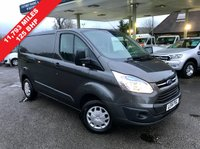 USED 2016 16 FORD TRANSIT CUSTOM 2.2 290 TREND LR P/V 1d 125 BHP Magnetic Grey Metallic, One Owner, 125 Bhp, Finance Arranged, Lovely Condition.