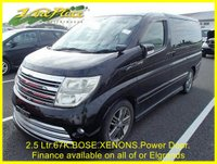 2007 NISSAN ELGRAND Rider 2.5 Auto 8 Seat with Full Leather, XENON and Power Slide Door £9000.00