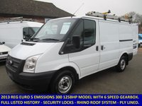 2013 FORD TRANSIT 125 BHP 300 SWB WITH FULL SERVICE HISTORY £6945.00