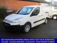 USED 2015 CITROEN BERLINGO ENTERPRISE L1 WITH AIR-CON, 3 SEATS & FULL ELECTRIC PACK