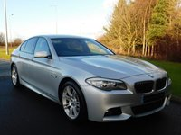 USED 2012 62 BMW 5 SERIES 2.0 520D M SPORT 4d 181 BHP BUSINESS SAT NAV, HEATED LEATHER