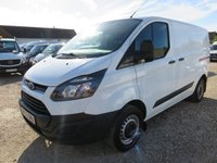 2015 FORD TRANSIT CUSTOM 2.2 TDCi 270 LOW ROOF SWB TAILGATE 19853 MILES ONLY £11995.00