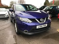 USED 2014 14 NISSAN QASHQAI 1.2 ACENTA DIG-T SMART VISION 5d 113 BHP NEED FINANCE? WE STRIVE FOR 94% ACCEPTANCE