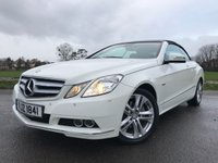 USED 2011 61 MERCEDES-BENZ E CLASS 2.1 E220 CDI BLUEEFFICIENCY SE EDITION 125 2d AUTO 170 BHP CONVERTIBLE LTD EDITION IN WHITE WITH FULL BLACK LEATHER FSH SAT NAV