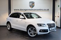 USED 2012 12 AUDI Q5 2.0 TDI QUATTRO S LINE PLUS 5DR + FULL BLACK LEATHER INTERIOR + SATELLITE NAVIGATION  + FULL AUDI SERVICE HISTORY + PANORAMIC SUNROOF + BLUETOOTH + DAB RADIO + HEATED SPORT SEATS + CRUISE CONTROL + BANG AND OLUFSEN SPEAKERS + RAIN SENSORS + PARKING SNEOSRS + 20 INCH ALLOY WHEELS +