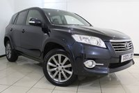 USED 2012 12 TOYOTA RAV4 2.2 SR D-CAT 5DR AUTOMATIC 150 BHP TOYOTA SERVICE HISTORY + HEATED HALF LEATHER SEATS + SAT NAVIGATION + REVERSE CAMERA + BLUETOOTH + CRUISE CONTROL + CLIMATE CONTROL + 18 INCH ALLOY WHEELS