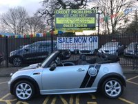 USED 2005 05 MINI CONVERTIBLE 1.6 ONE 2d 89 BHP SILVER METALLIC WITH DARK GREY CLOTH UPHOLSTERY. SPORTS SPOILER KIT. ALLOY WHEELS. AIR CONDITIONING. TWO REMOTE LOCKING KEYS. ELECTRIC WINDOWS. ELECTRIC HOOD. PLEASE GOTO www.lowcostmotorcompany.co.uk TO VIEW OVER 120 CARS, SOME OF THE CHEAPEST CARS ON AUTOTRADER