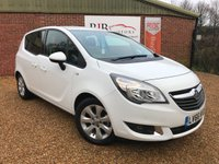 2016 VAUXHALL MERIVA 1.4 LIFE 5d 99 BHP, ONLY COVERED 141 MILES FROM NEW £7995.00