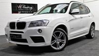 USED 2012 62 BMW X3 2.0 XDRIVE20D M SPORT 5d AUTO 181 BHP *BLUE PERFORMANCE M SPORT*