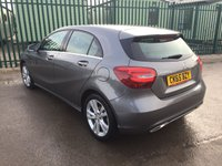 USED 2015 65 MERCEDES-BENZ A CLASS 1.5 A 180 D SPORT 5d AUTO 107 BHP SAT NAV MONITOR LEATHER FSH NO FINANCE REPAYMENTS FOR 2 MONTHS STC. SATELLITE NAVIGATION MONITOR. STUNNING GREY MET WITH FULL CREAM LEATHER TRIM. CRUISE CONTROL. 17 INCH ALLOYS. COLOUR CODED TRIMS. REVERSING CAMERA. BLUETOOTH PREP. CLIMATE CONTROL. R/CD PLAYER. MFSW. ONE PREV OWNER. FULL SERVICE HISTORY. FCA FINANCE APPROVED DEALER. TEL 01937 849492