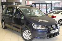 USED 2013 63 VOLKSWAGEN SHARAN 2.0 SE TDI 5d 142 BHP FULL SERVICE HISTORY + PARKING SENSORS + 16 INCH ALLOYS + CRUISE CONTROL + REAR PRIVACY GLASS