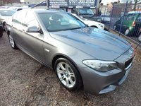USED 2011 11 BMW 5 SERIES 2.0 520D M SPORT 4d AUTO 181 BHP BLACK LEATHER INTERIOR, AIRCON, F.S.H,ALLOYS