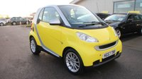 USED 2008 57 SMART FORTWO 1.0 PASSION 2d AUTO 70 BHP LOW DEPOSIT OR NO DEPOSIT FINANCE AVAILABLE.