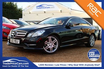 2012 MERCEDES-BENZ E CLASS 2.1 E250 CDI BLUEEFFICIENCY S/S SPORT 2d 204 BHP £13995.00