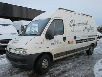 2006 PEUGEOT BOXER 2.2HDI 350 LX LWB HDI 100BHP HIGH ROOF. ONLY 112,000 MILES £1995.00