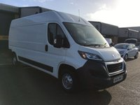 USED 2014 64 PEUGEOT BOXER 2.2 HDI 335 L3H2 PROFESSIONAL P/V 1d 130 BHP **NO VAT**, FSH, A/C, SATNAV, 6 MONTH WARRANTY & FINANCE ARRANGED. ** NO VAT **, FSH, A/C, SATNAV, Bluetooth, rear parking sensors, Radio/CD, Drivers airbag, Factory fitted bulk head, Side loading door, Ply-lined. WHITE, Very Good Condition, 1 Owner, remote Central Locking, Drivers Airbag, CD Player/FM Radio, Steering Column Radio Control, Side Loading Door, Wood Lined, Barn Rear Doors.