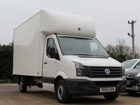 USED 2014 64 VOLKSWAGEN CRAFTER LUTON 2.0 CR35 TDI C/C 1d 161 BHP POWER TAIL LIFT, AIR CONDITIONING, VAT INCLUDED