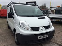 USED 2013 63 RENAULT TRAFIC SWB 2.0 SL27 DCI S/R 115 BHP 1 OWNER FSH NEW MOT FREE AA WARRANTY, RECOVERY AND ASSIST NEW MOT SPARE KEY ELECTRIC WINDOWS AND MIRRORS 6 SPEED BLUETOOTH ROOF RACK TOW BAR REAR PARKING SENSORS