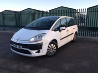 USED 2007 56 CITROEN C4 GRAND PICASSO 1.6 SX HDI 5d 110 BHP 7 SEATER MOT 05/18 7 SEATER. WHITE WITH GREY LEATHER TRIM. 16 INCH ALLOYS. COLOUR CODED TRIMS. AIR CON. R/CD PLAYER. MFSW. TOWBAR. MOT 05/18. AGE/MILEAGE RELATED SALE. TEL 01937 849492
