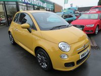 USED 2014 64 FIAT 500 1.2 S 3d 69 BHP 1 OWNER VEHICLE..LOW TAX AND LOW INSURANCE