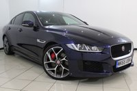 USED 2015 65 JAGUAR XE 3.0 S 4DR AUTOMATIC 335 BHP JAGUAR SERVICE HISTORY + HEATED LEATHER SEATS + SAT NAVIGATION +BLUETOOTH + REVERSE CAMERA + CRUISE CONTROL + MULTI FUNCTION WHEEL + CLIMATE CONTROL + 20 INCH ALLOY WHEELS
