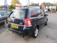 USED 2012 62 VAUXHALL ZAFIRA 1.8I EXCLUSIV 5DR